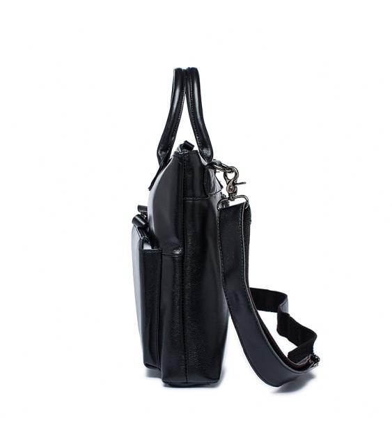 Liam Michael Business Leather Bag (Black)